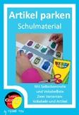German - Artikel und Wortschatz üben Thema Schulsachen