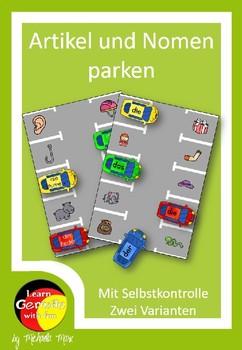 German - Artikel und Wortschatz üben - verschiedene Nomen