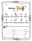 German Baby Equipment Worksheet Packet