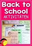 German Back to School activities- Materialsammlung für den