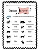 German Barnyard Animals Worksheet Packet