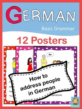 German Basic Grammar  How to address someone  12 Posters