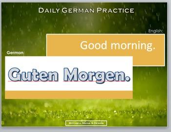 German Basics - Daily Practice PowerPoint