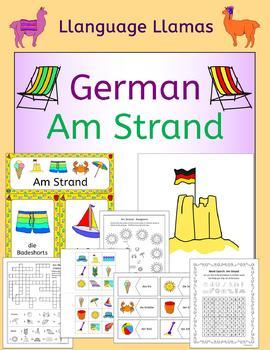 German Summer Beach Vacation - Am Strand - activities, puz