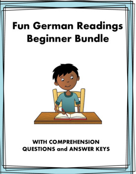 German Fun Beginner Readings Bundle - 5 Lesungen Für Anfänger! (present tense)