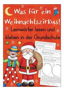 German Beginners Vocabulary Read And Glue Worksheet Deutsch Weihnachten Daf