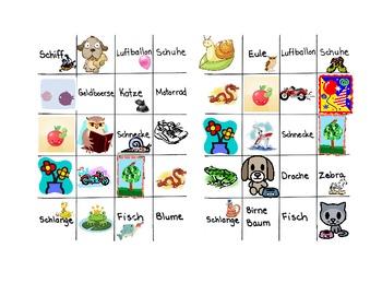 German Bingo Game