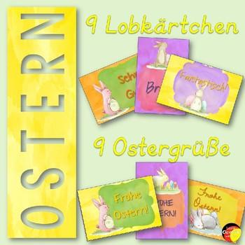 German Brag Tags- Deutsche Lobkärtchen- Ostern