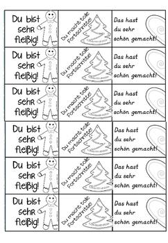 German Brag Tags- Deutsche Lobkärtchen- Winteredition