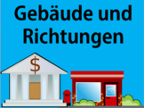 German Buildings Vocabulary and Direction Phrases - Includ