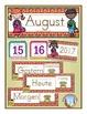 German Calendar Pocket Chart Bundle for Fall