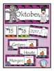 German Calendar Pocket Chart Bundle for Fall