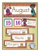 German Calendar Pocket Chart Bundle for Fall- Canadian Version