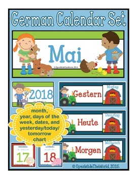 German Calendar Set for May (for pocket chart calendars)
