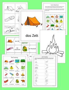 German Camping Vocabulary