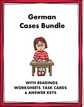 German Cases: Accusative, Dative and Genitive- 5 Worksheets @40% off! (EDITABLE)