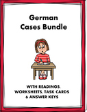 German Cases: Accusative, Dative and Genitive- 5 Worksheets @35% off! (EDITABLE)