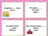 German Cases Task Cards: Declension Practice - Deklinationen: Accusative/Dative