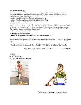 German Chores picture essay