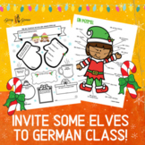 German Christmas Activity, Steckbrief, Label Body Parts an