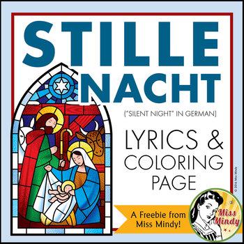 1 Weihnachten.German Christmas Carol Stille Nacht Silent Night Weihnachten Coloring