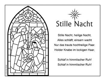 German Christmas Carol Stille Nacht Silent Night Weihnachten