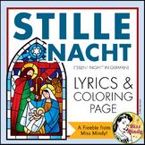 German Christmas Carol Stille Nacht Silent Night Weihnachten Coloring {FREEBIE}