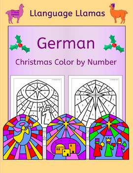 German Christmas Weihnachten - Color by Number