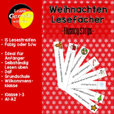 German Christmas Fluency Strips- Deutsch Lesefächer Weihnachten