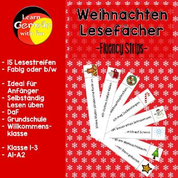 German Christmas Fluency Strips Deutsch Lesefacher Weihnachten