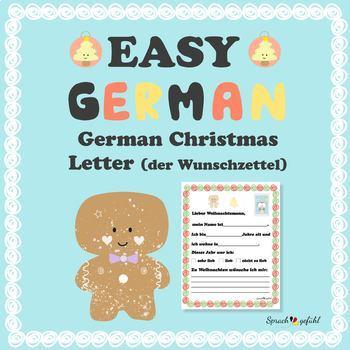 German Christmas Letter - German Christmas Craft - Der Wunschzettel