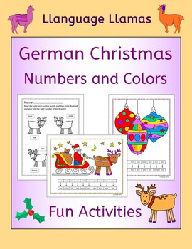 German Christmas Weihnachten Number and Color Activities