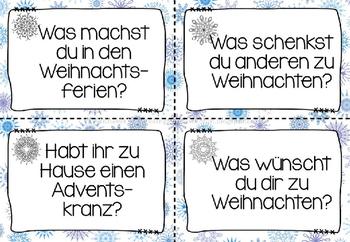 German Christmas Smalltalk- Deutsche Sprechanlässe zum Thema Weihnachten