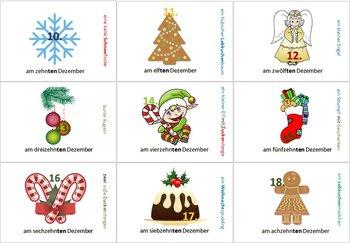 German Christmas Vocabulary & Ordinal Numbers