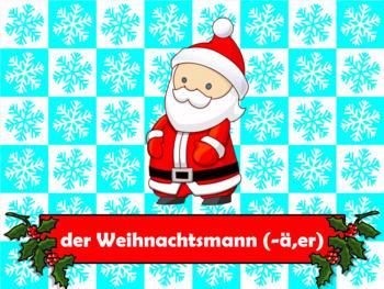 German Christmas Vocabulary PowerPoint