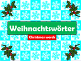 German (Deutsch) - Christmas Vocabulary PowerPoint (With A