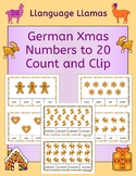 German Christmas Weihnachten Numbers Zahlen Count and Clip