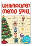 German Christmas - Weihnachten in Deutschland Spiel, matching cards, Deutsch