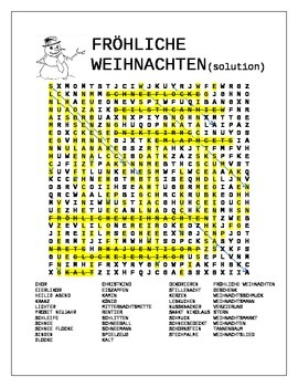 Christmas in Germany Wordsearches