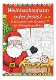 German Christmas tradition: Warum feiern wir Weihnachten? Jesus,Religion,deutsch