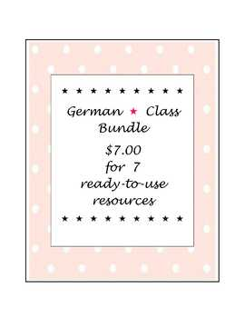 German * Class Bundle ~ $7.00 for 7 ready-to-use resources