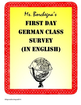 German Class First Day Student Survey
