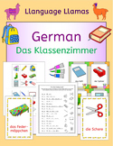 German School Classroom - Das Klassenzimmer - activities, puzzles and games