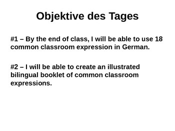 German Classroom Expressions PowerPoint
