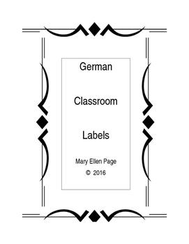 German  Classroom  Labels