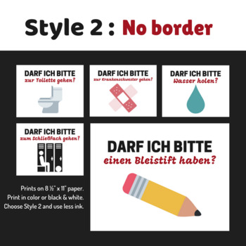 German Classroom Request Posters (2 Styles)