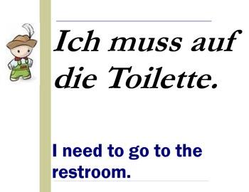German Classroom Survival Phrase Posters