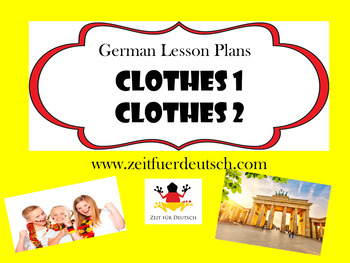 Clothes Bundle. German Powerpoints, Lesson Plans and Resources & Weather Bonus
