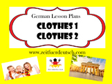 Clothes Bundle. German Powerpoints, Lesson Plans and Resou