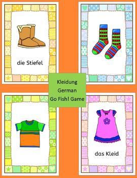German Clothing - Kleidung - Go Fish! game